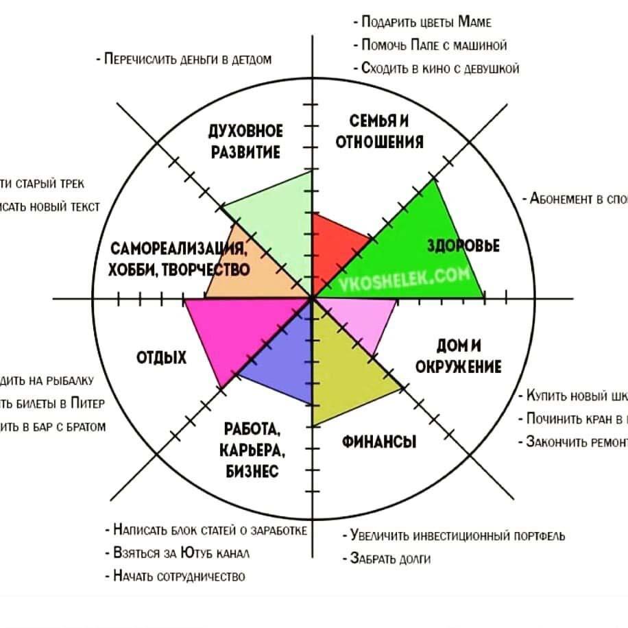 колесо баланса пример целей