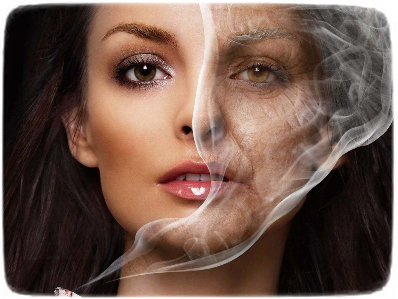 вредные привычки и красота женщины